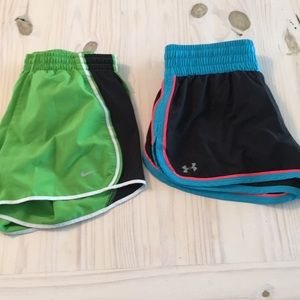 Two UA and Nike shorts - new
